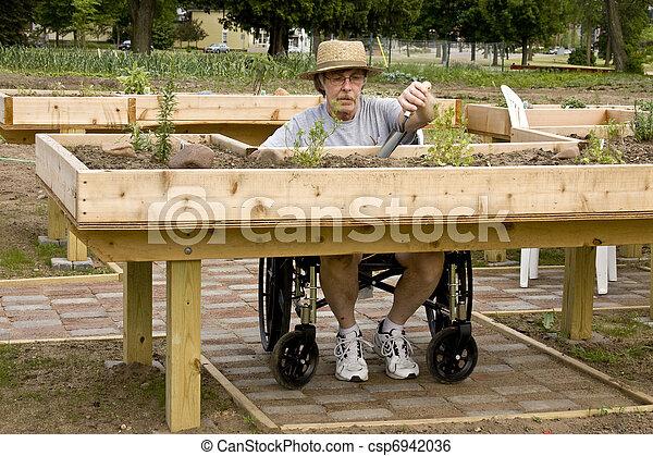 handicapped gardener - csp6942036