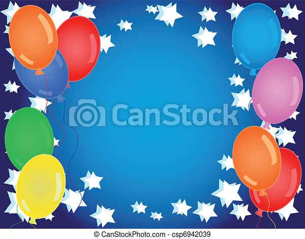 Birthday or other celebration backg - csp6942039