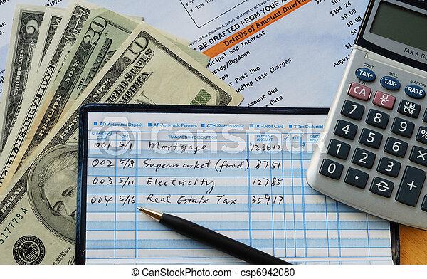 Write some checks to make payments  - csp6942080