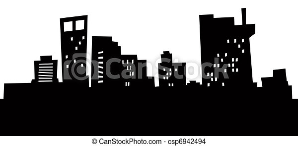 Cartoon Bridgeport Skyline. - csp6942494