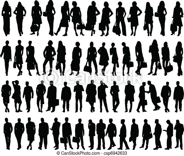 big collection of business people - csp6942633