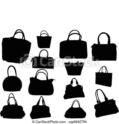 big collection of purses - vector - csp6942794