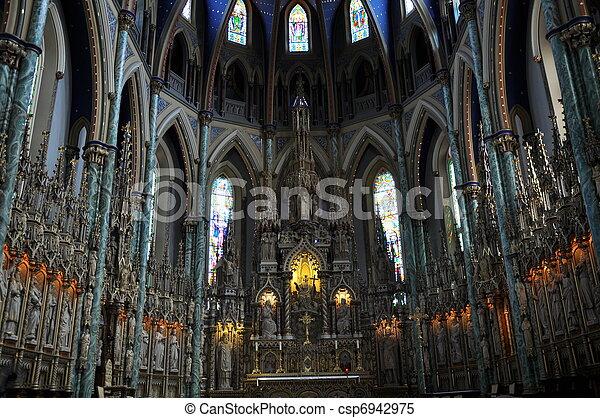 Notre Dame Basilica in Ottawa - csp6942975