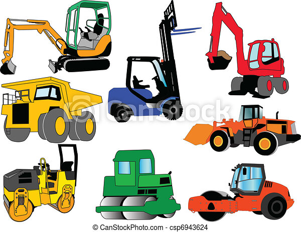 collection of construction machines - csp6943624