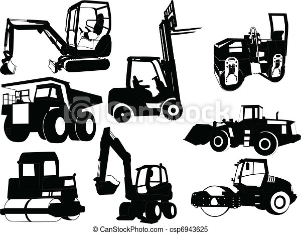 collection of construction machines - csp6943625