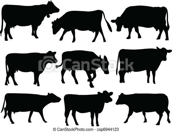 Cow silhouette - csp6944123