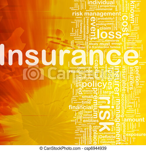 Insurance background concept - csp6944939