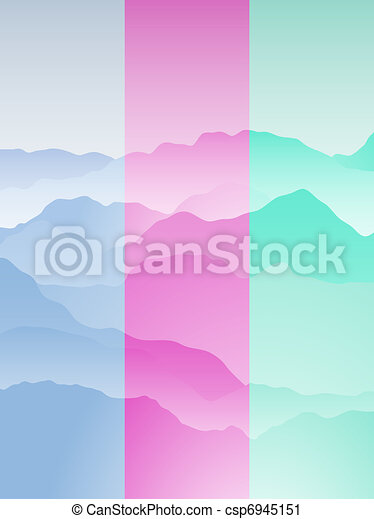 Mountain range portrait - csp6945151