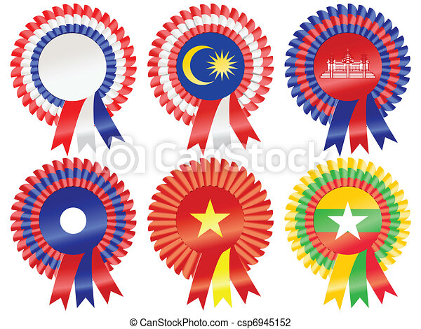 South East Asia Rosettes - csp6945152