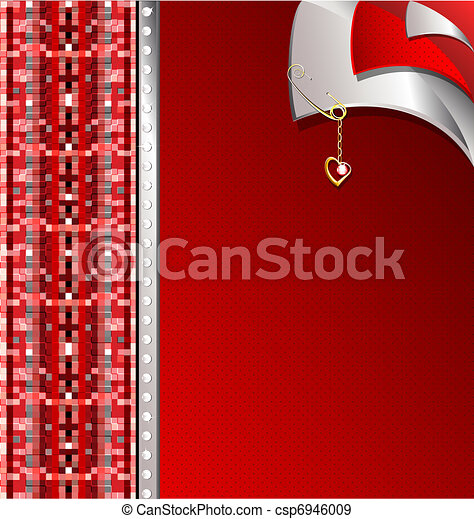 red-gray variation with a golden pin - csp6946009
