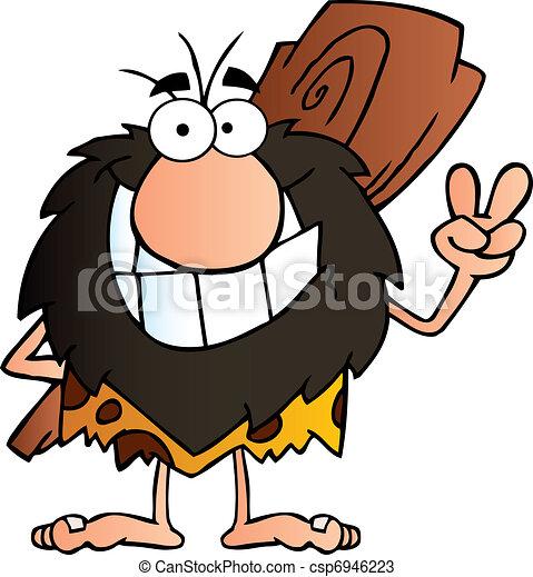 Happy Caveman - csp6946223