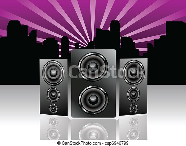 abstract sound background - csp6946799