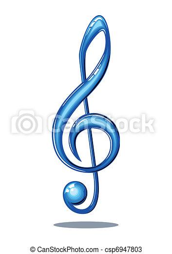 Glossy music note - csp6947803