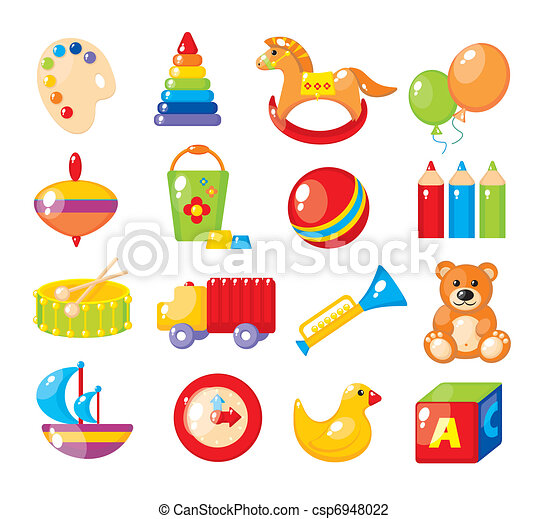 Set of pictures for a kindergarten - csp6948022