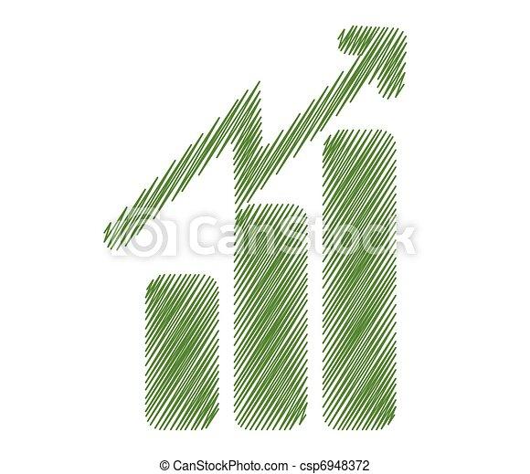 growth progress symbol  - csp6948372