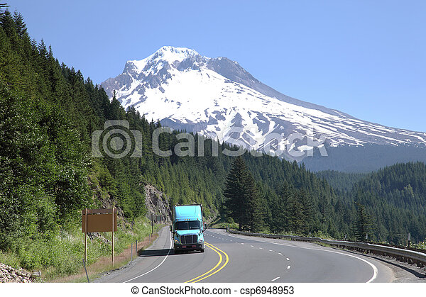 Mt. Hood & transportation. - csp6948953