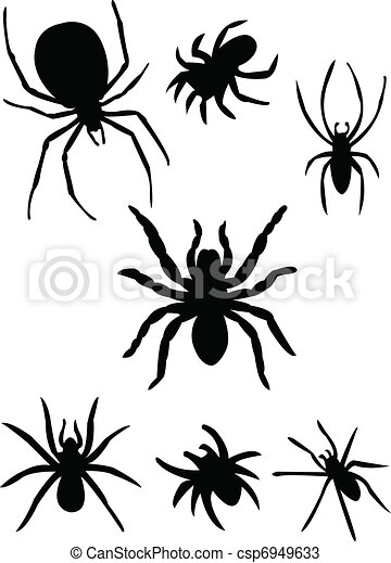 Spiders silhouette - csp6949633