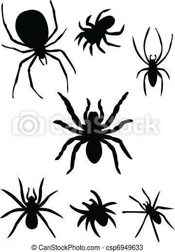 Spiders silhouette - csp6949633