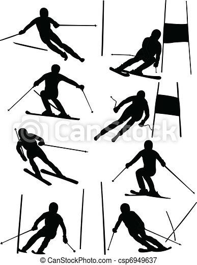 Alpine skiing - csp6949637