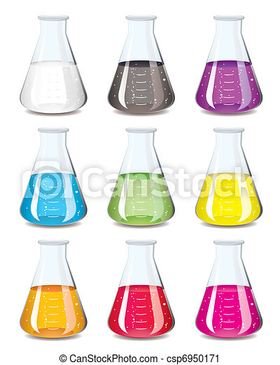 chemistry flask collection - csp6950171