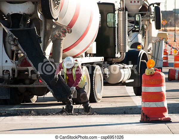 Cement mixer truck - csp6951026