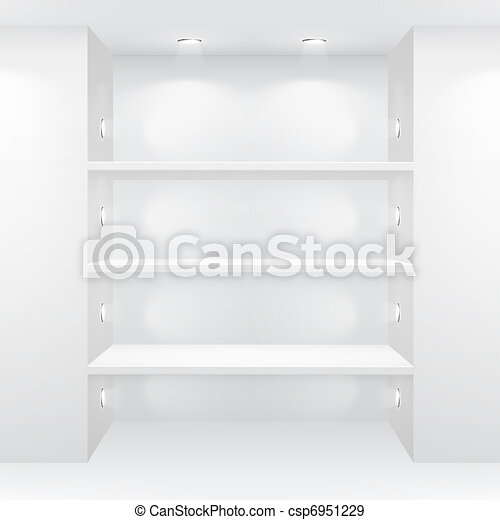 Gallery Interior with empty shelves - csp6951229