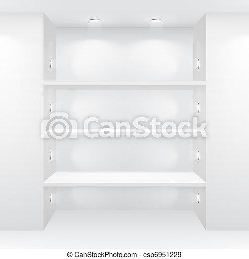 Gallery Interior with empty shelves - csp6951229