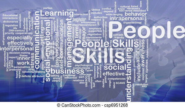 People skills background concept - csp6951268