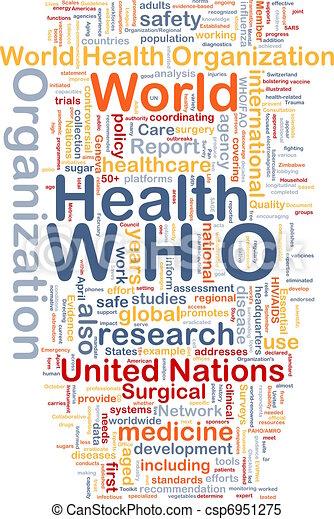 Stock Illustrations of World health organization WHO ...
