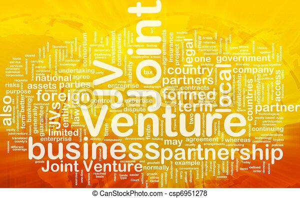 Joint venture background concept - csp6951278