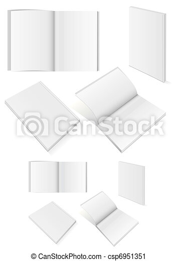 Set of books with softcover. - csp6951351