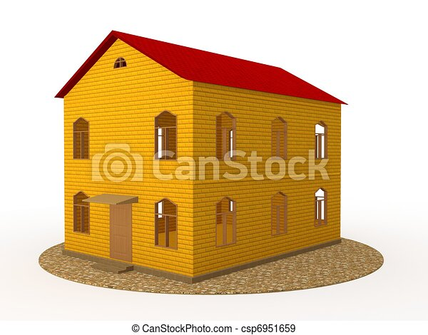 Two-storey house - csp6951659