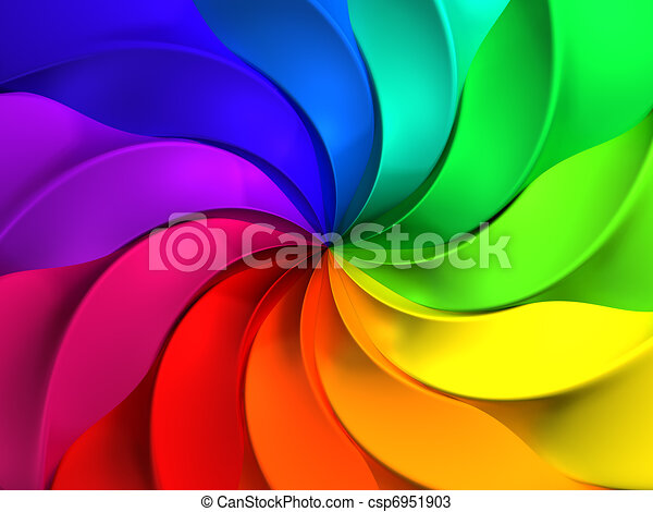 Colorful abstract windmill pattern background - csp6951903