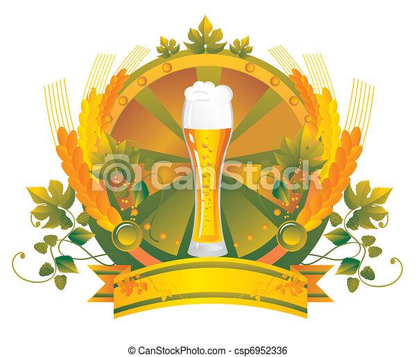 Beer mug in a vignette  - csp6952336