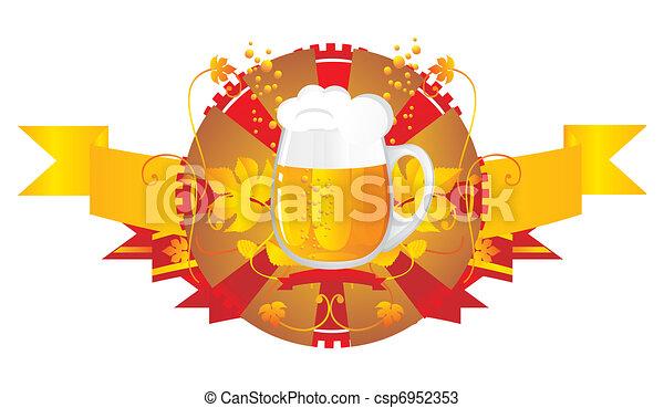 Beer mug in a vignette - csp6952353
