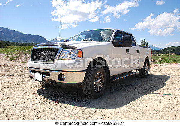 White Pick-up Truck - csp6952427
