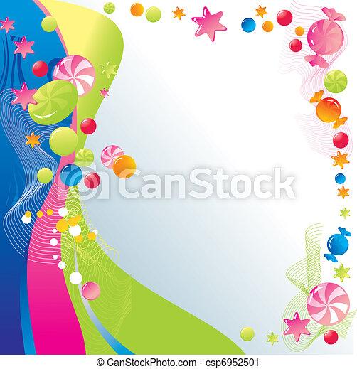 Sweet celebratory design  - csp6952501