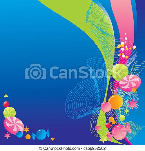 Sweet celebratory design  - csp6952502
