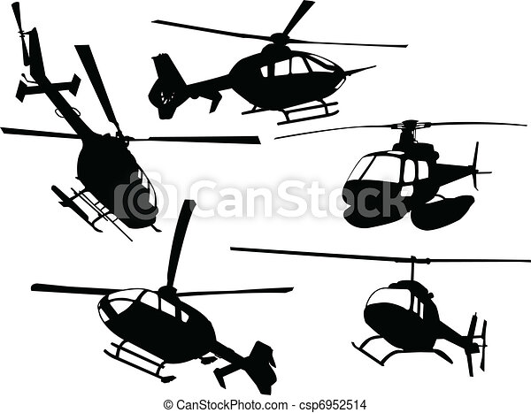 helicopters collection - vector - csp6952514