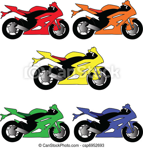 motors in different color - vector - csp6952693