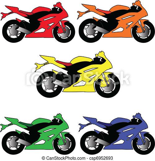 motors in different color - vector - csp6952693