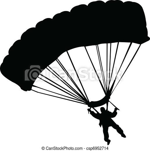 Eps vector de paracaidistas vector ilustraci n - Dessin parachutiste ...