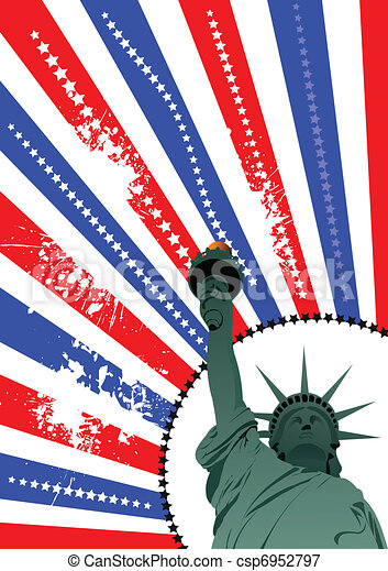 Cover for brochure with USA image  - csp6952797
