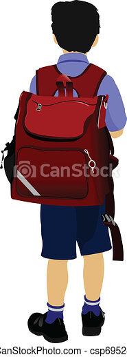 Boy going to school - csp6952820