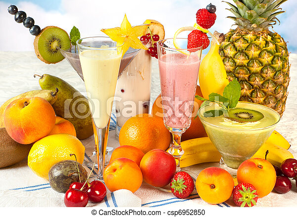 Healthy smoothies for a diet - csp6952850