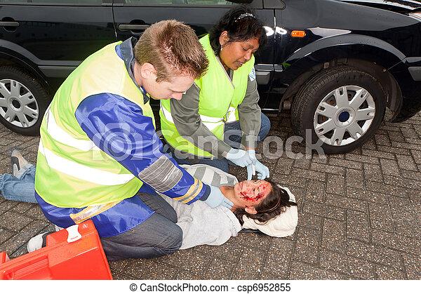 Paramedics in action - csp6952855