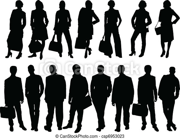 business woman and man collection - csp6953023