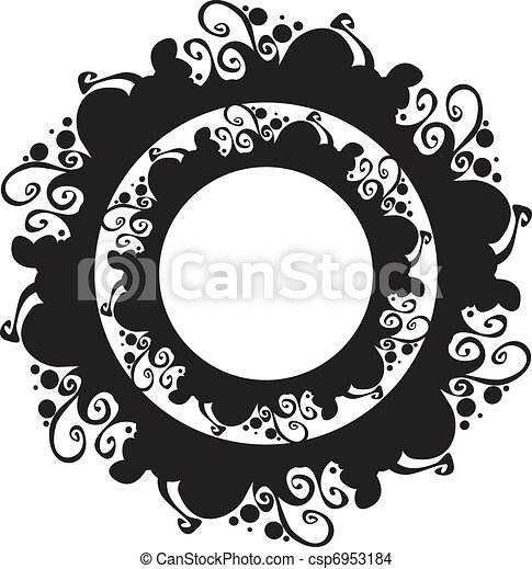 ornate abstract silhouette - csp6953184