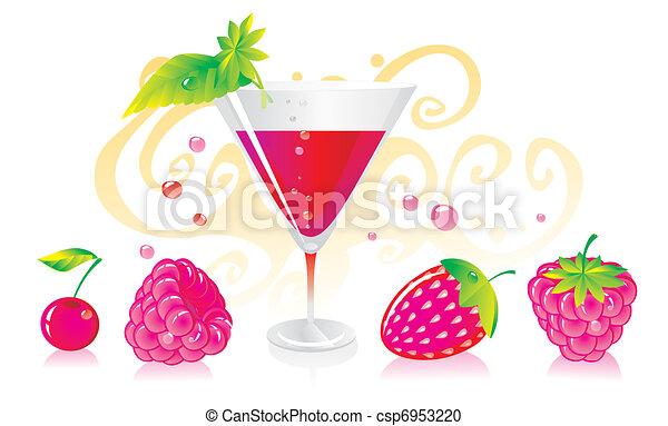berry liqueur  - csp6953220