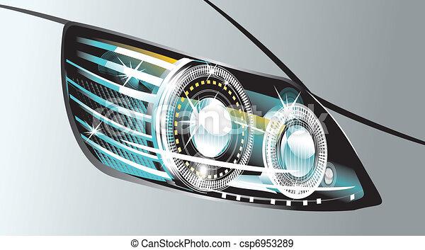 modern luminescent lamp design of a  car - csp6953289